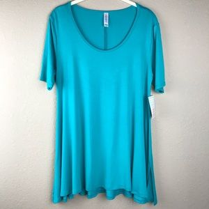 NWT Lularoe Turquoise Perfect T/ Swing Top: XS